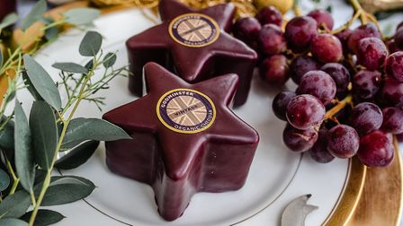 The Godminster celebration cake is topped off with a vintage Cheddar star. PHOTO: Clare Kinchin Pho