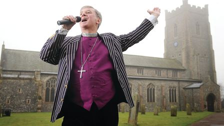 Bishop of Lynn Jonathan Meyrick is recording a charity CD to raise money for Tapping House Hospice.
