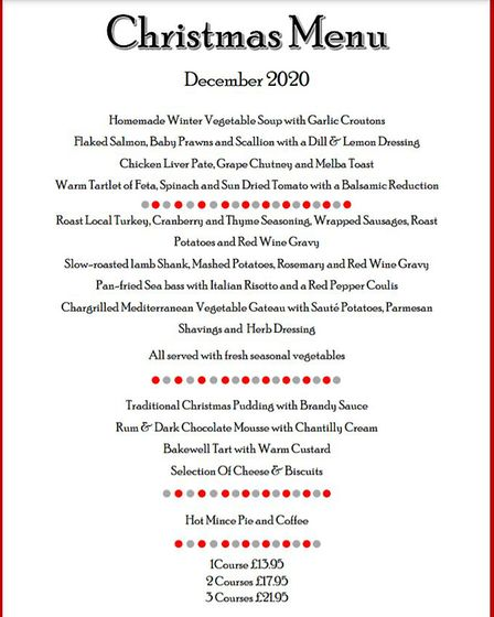 Festive Menu at The Outlook