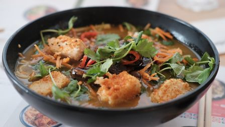 Lunch at Wagamama's - just one of a good choice of places to eat at the Arc in Bury St Edmunds. Phot