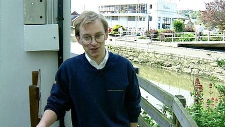 A very young Justin on a tour of BBC Radio Cornwall where he later worked