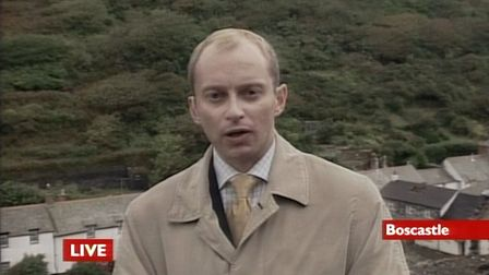 Justin was on the scene following teh storm that destroyed Boscastle Harbour