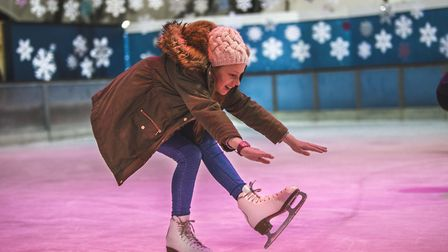 Ice skating is back at the Eden Project near St Austell