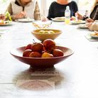 Hebron Trust clients and staff eat together Picture: Teele Photography
