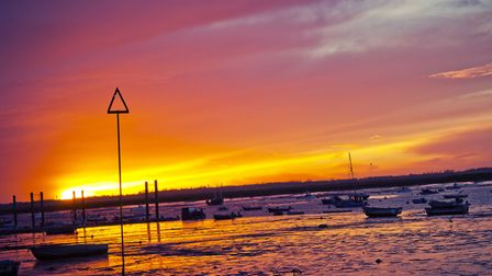 A striking sunset captured in Mersea Island (photo: joeburrowsphotography/Getty Images/iStockphoto)