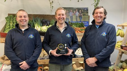 Jurassic Coast Farm Shop team: Mark Vaughan, James and Eric Sealey based at Winfrith Newburgh