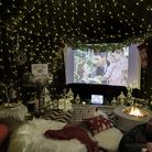 Get into the spirit of the season by making yourself a Wayfair Christmas cinema room. Photo: David G