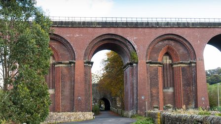 Whalley Viaduct and gatehouse