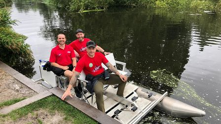 Training in the pedalo (photo courtesy of Challenge MND)
