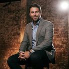 Eddie Hearn filming Matchroom Boxing's Unscripted programme, January 2020 (photo: Mark Robinson Phot