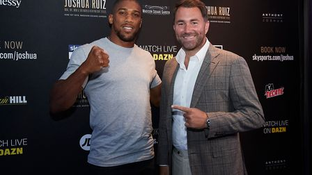Anthony Joshua in New York ahead of his world title fight against Andy Ruiz Jr at Madison Square Gar