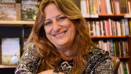 Elly Griffiths at Jarrolds with some of her books Picture: DENISE BRADLEY