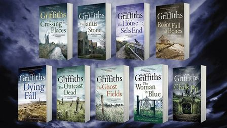 Books by Elly Griffiths Photo: supplied by Quercus.