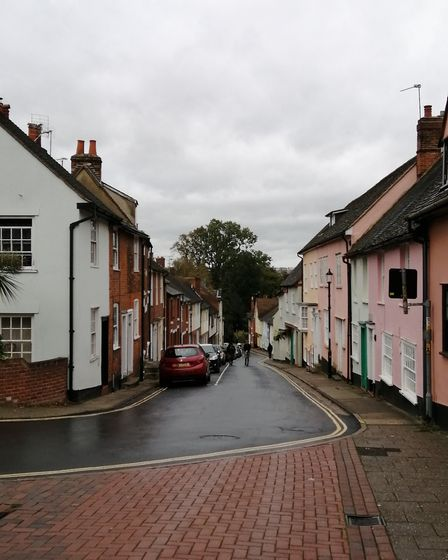 Rainy days in historic Colchester (photo: Jenny Green)
