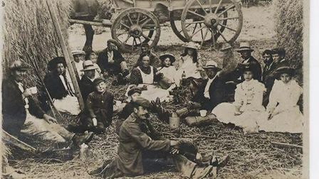 Life on the land: Victorian workers enjoy a meal break. The Museum of East Anglian Life offers an in