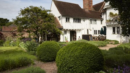 Rear view of the 16th century Tudor merchant's house at Paycocke's House and Garden (photo ©National