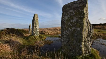 The Nine Maidens stone circle near Madron is one of Cornwall's ancient scheduled monuments. Photo: G