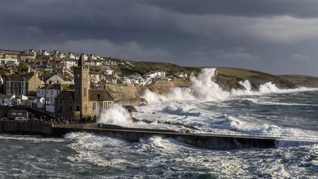 Porthleven battered by high waves