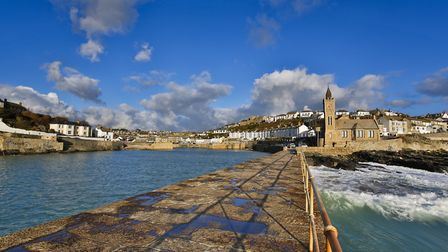Porthleven seen from the pier at the mouth of the harbour