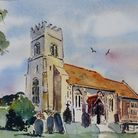 St Catherine's Chruch benefits greatly from the beauty of the surrounding countryside (artwork: Jame
