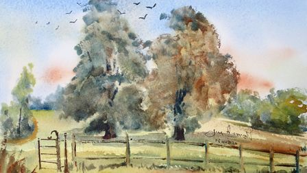 The view from Lych Gate (artwork: James Merriott)