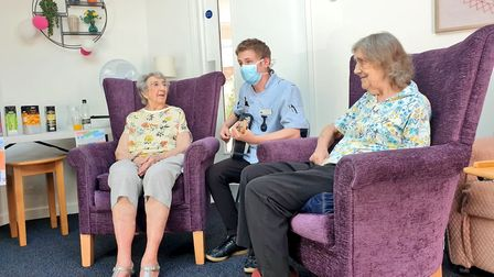 Laurel Lodge staff have used their musical skills to keep residents entertained during the pandemic.