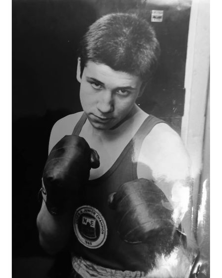 Ian Lewis during his boxing career.