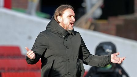 Norwich Head Coach Daniel Farke during the FA Cup match at Oakwell, BarnsleyPicture by Paul Cheste