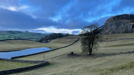 A view from Alastair Campbell's 'winter walk' through the Yorkshire Dales