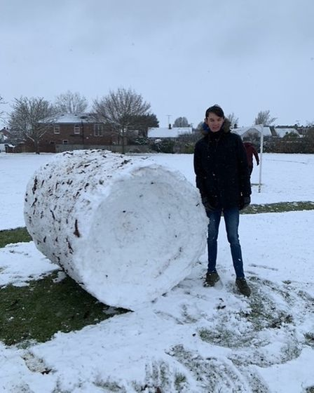 giant snowball snow day