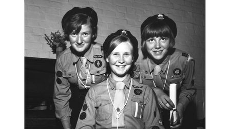 Winners of Girl Guides First Class prize in Bury St Edmunds in June 1964