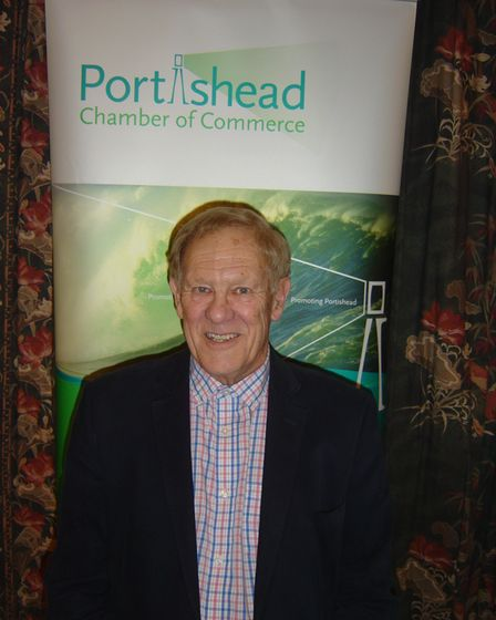 President of Portishead Chamber of Commerce, David Cook.