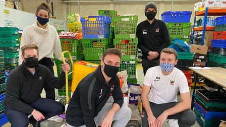 St Albans footballers help people during pandemic