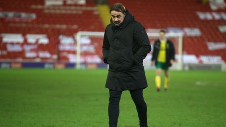 Norwich Head Coach Daniel Farke at the end of the FA Cup match at Oakwell, Barnsley Picture by Paul