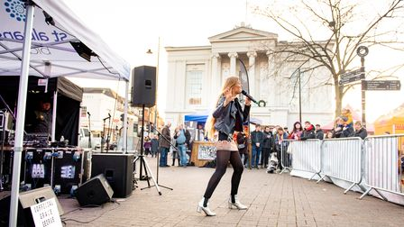 Grace George performing in St Albans