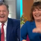 Piers Morgan and Lorraine Kelly joke about Priti Patel