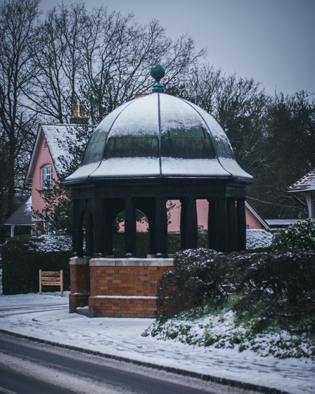 Elsenham Pump House on a snowy day