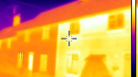 Thermal image shows where to target home improvements to reduce energy bills