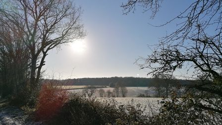 Snow and sun in Rickling Green