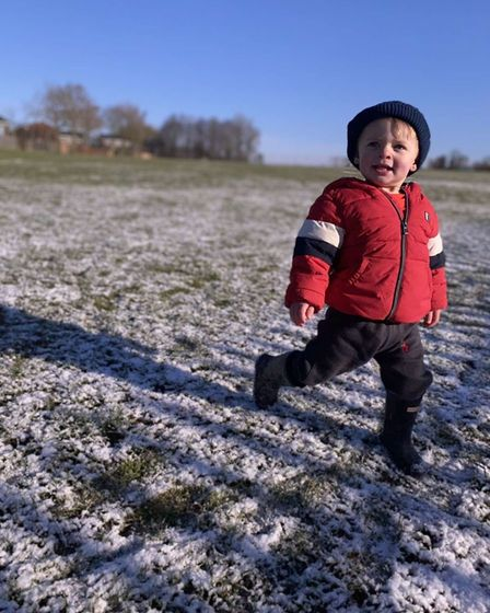 Theo, 1, went to Herbert's Farm Playing Fields