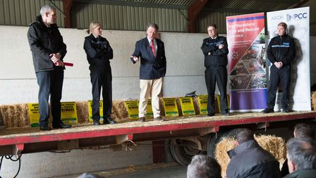 Commissioner David Lloyd and Chief Constable Charlie Hall Barn Meeting