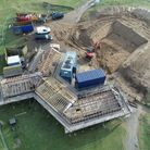 Work has started on the total refurbishment of Northam Burrows Visitor Centre and the creation of a cafe