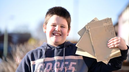 Bayley Cason has been busy writing letters to key workers to thank them for everything they're doing