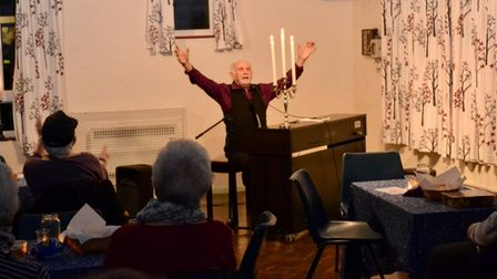 Keith performing at St Peter's Church in Aldborough Hatch.