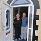 Margaret and Eddy Davies saying farewell to Oak Park Avenue