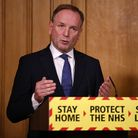 Sir Simon Stevens, Chief Executive of the National Health Service in England during a media briefing