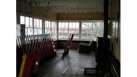 Picture of inside of signal box