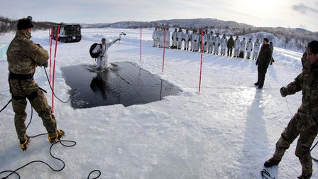 Cold weather survival and warfare training for Royal Marines in Norway.
