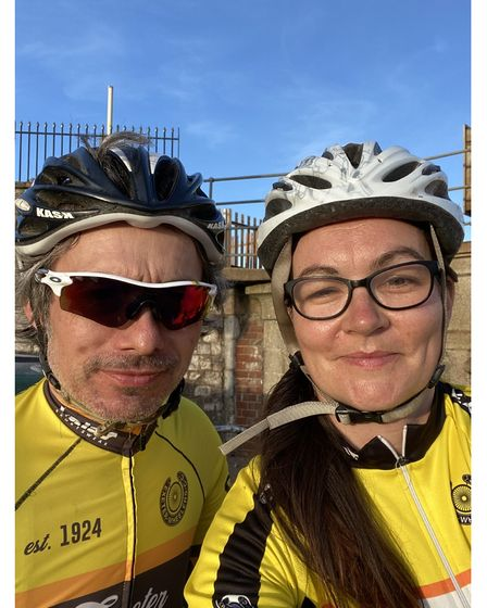 Picture of charity fund-raising couple