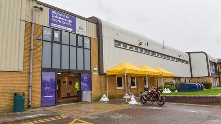 Gainsborough Sports Centre is being used as a Covid-19 Vaccination Centre. Picture: SARAH LUCY BROW
